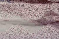 ткань розовое кружево кружево полиэстер цветы розовая Италия