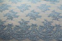 ткань голубое кружево кружево полиэстер цветы голубая Италия