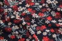 ткань крепдешин с мелкими цветочками крепдешин шелк цветы черная Италия