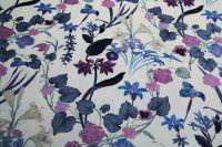 ткань бархат с цветами и эластаном бархат вискоза цветы белая Италия