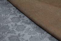 ткань двусторонний кашемир с цветами пальтовые кашемир цветы бежевая Италия