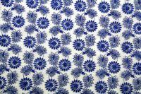 ткань Синяя органза с вышитым цветочным рисунком органза полиэстер цветы синяя Италия