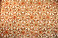 ткань Оранжевая органза с фактурными цветами (нашитыми цветами) органза полиэстер цветы оранжевая Италия