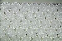 ткань Органза с фактурными цветами органза полиэстер цветы белая Италия