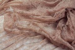 ткань шантильи кружево вискоза цветы бежевая Италия