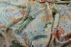 ткань шерстяная марлевка ETRO марлевка шерсть цветы персиковая Италия