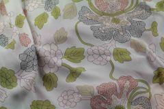 ткань креповый шифон с цветами крепшифон вискоза цветы белая Италия