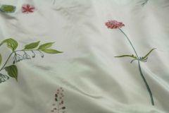 """ткань шелковая плащевка """"Шведская рапсодия"""" плащевка шелк цветы белая Италия"""