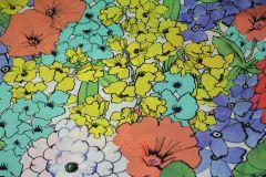 ткань плащевка VDP с цветами плащевка полиэстер цветы разноцветная Италия