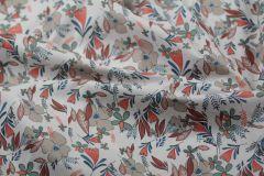 ткань вискоза с цветами костюмно-плательная вискоза цветы белая Италия