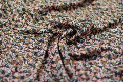 ткань штапель с мелкими цветочками штапель вискоза цветы разноцветная Италия