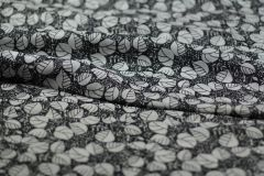 ткань тонкий полупрозрачный лен сорочечная лен цветы черная Италия