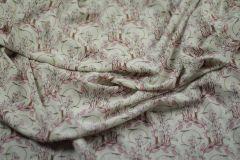 ткань легкий креп от G. Valli креп полиэстер цветы белая Италия