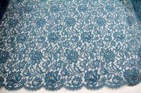 ткань французское кружево кружево хлопок цветы синяя Франция