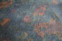ткань хлопковый бархат с цветами бархат хлопок цветы черная Италия