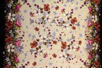 ткань твил VDP твил шелк цветы разноцветная Италия