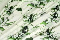ткань трикотаж CLASS R. Cavalli трикотаж вискоза цветы белая Италия