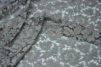 ткань кружево Valentino (Sophie Hallette) кружево хлопок цветы серая Италия