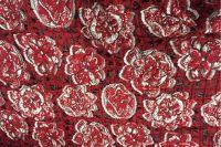 ткань жаккард MARNI жаккард смесовый цветы красная Италия
