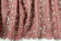 ткань кружево Solstiss коричневое кружево смесовый цветы коричневая Франция