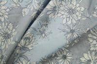 ткань батист с цветами батист хлопок цветы голубая Италия