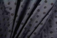 ткань шитье с цветами шитье хлопок цветы синяя Италия