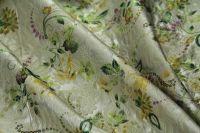 ткань матлассе матлассе хлопок цветы бежевая Италия