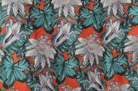 ткань жаккард маррас жаккард полиэстер цветы красная Италия
