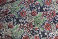 ткань пан-бархат с цветами бархат вискоза цветы коричневая Италия