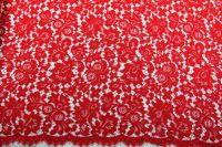 ткань кружево solstiss кружево смесовый цветы красная Италия