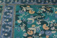 ткань хлопковая плащевка Burberry плащевка хлопок цветы зеленая Италия