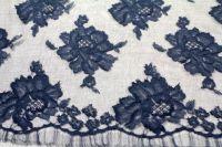ткань кружево кружево вискоза цветы черная Италия