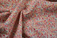 ткань поплин в мелкий цветок поплин хлопок цветы красная Италия