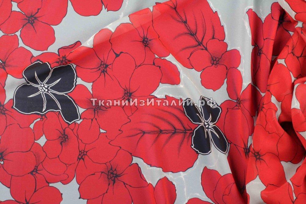Ткань шифон с цветами купить подхват магнитный для штор