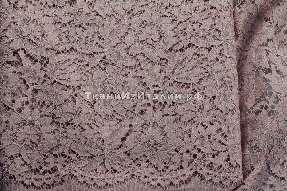 ткань кружево Valentino кружево хлопок цветы розовая Франция