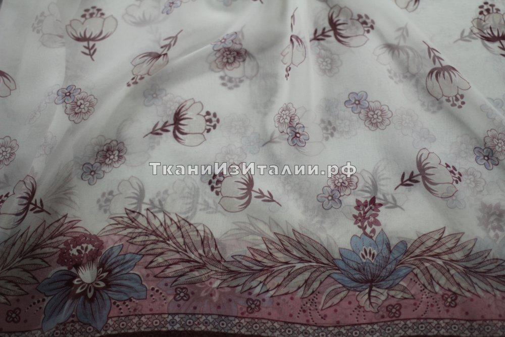 Ткань шифон с цветами купить что за материал nylon